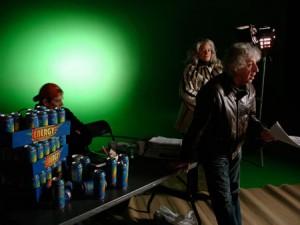 Alexander Galin num <i>set</i> de filmagem