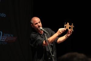 Ney Piacentini na entrega da segunda edição do prêmio de teatro da CPT