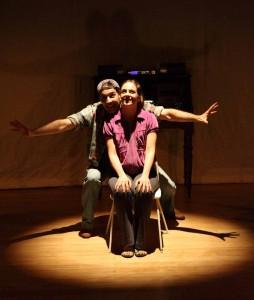 Mário Condor e Luciana Rossi em <i>Teatro Para Pássaros</i>
