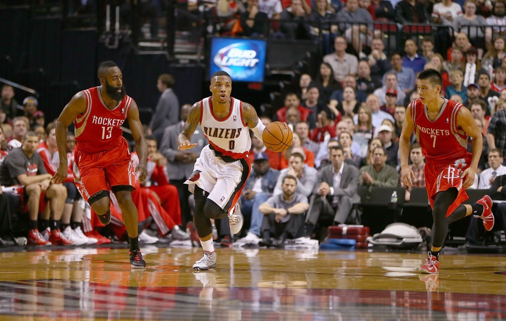 Blazers, de Damian Lillard, tem se mostrado freguês do Rockets nos playoffs (Foto: Getty Images)