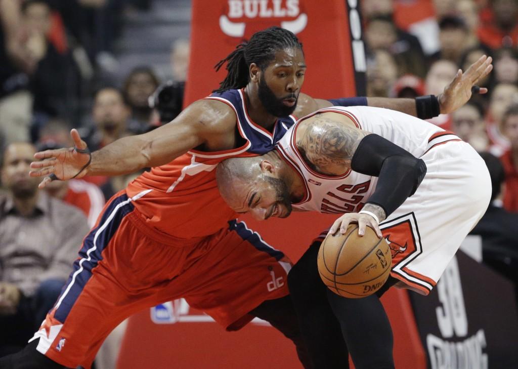 Nenê tem feito a diferença para o Wizards contra o Bulls (Foto: AP)