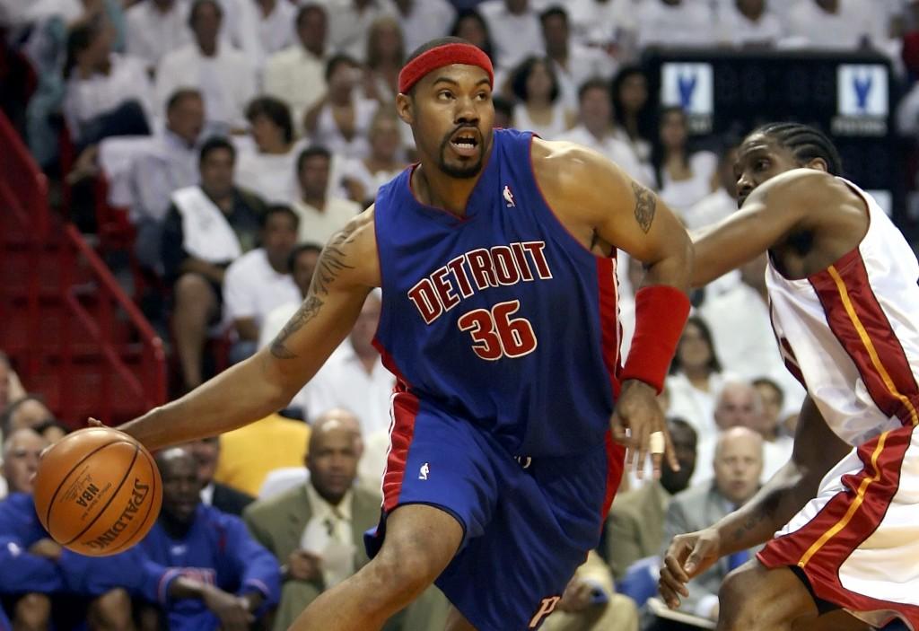 Rasheed Wallace foi campeão em 2004 com o Detroit Pistons (Foto: Getty Images)