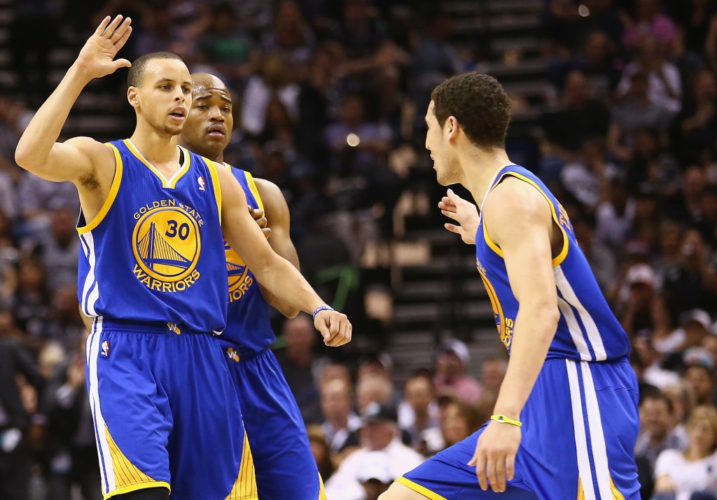 Stephen Curry e Klay Thompson (Foto: Getty Images)
