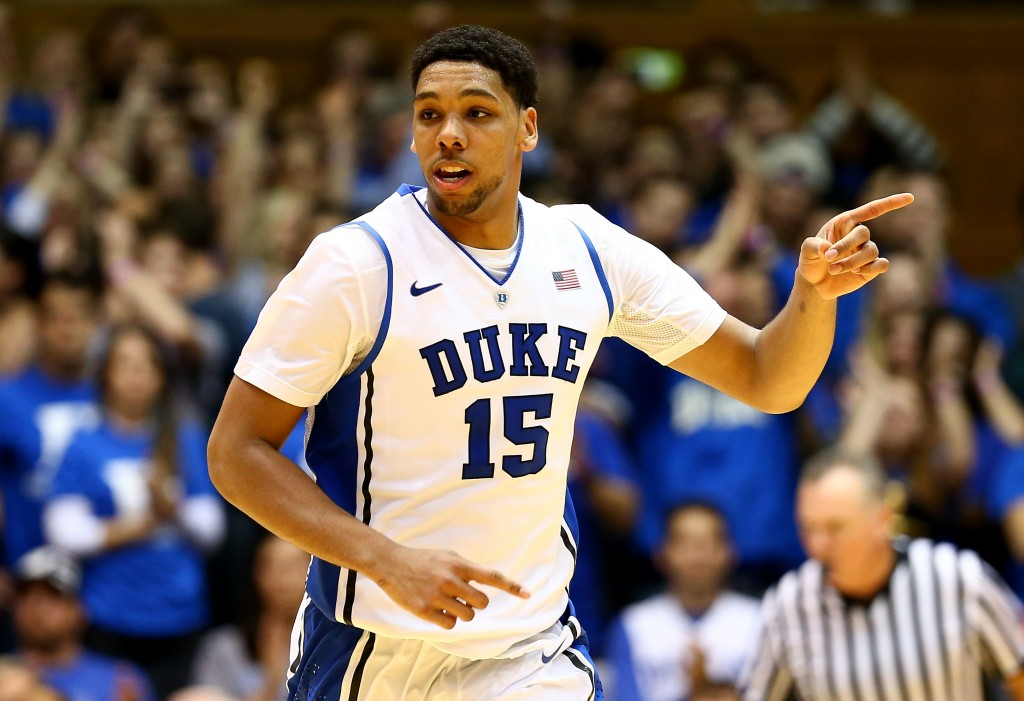 Jahlil Okafor: pivô de Duke tem impressionado na NCAA (Foto: Getty Images)
