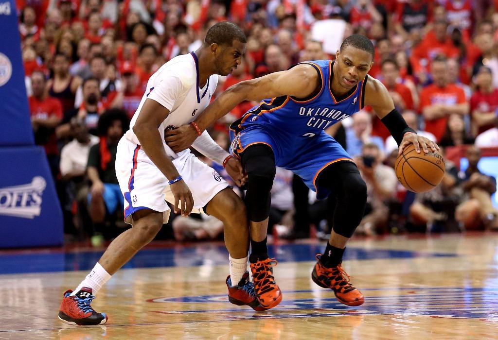 Chris Paul e Russell Westbrook: tem como escolher só um dos dois? (Foto: Getty Images)