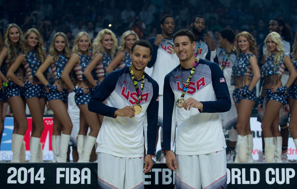 Stephen Curry e Klay Thompson: os Splash Brothers seguem juntos (Foto: Getty Images)