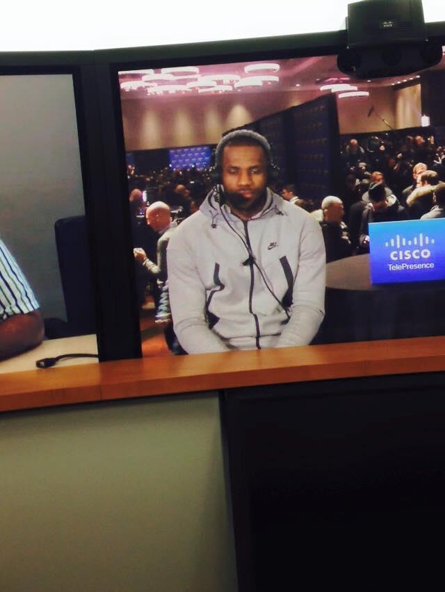 LeBron James: participação relâmpago em videoconferência (Foto: Gustavo Faldon/ESPN Brasil)