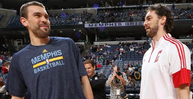 Marc e Pau Gasol estarão juntos no All-Star Game (Foto: Reprodução)