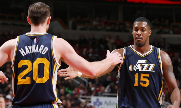 "Utah Jazz, de Gordon Hayward e Derrick Favors, é o melhor time da NBA desde o ""All-Star Game"""