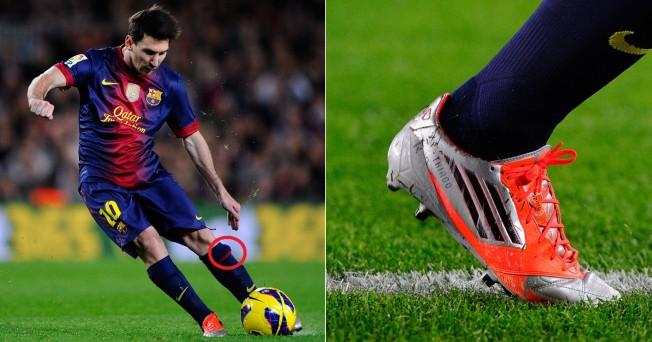 Volume no meião de Messi e nome do filho estampado na chuteira. Se Messi  ainda não conseguiu homenagear ... 958a222dbb174