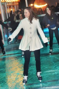 A Pippa Middleton de verdade, patinando na Somerset House