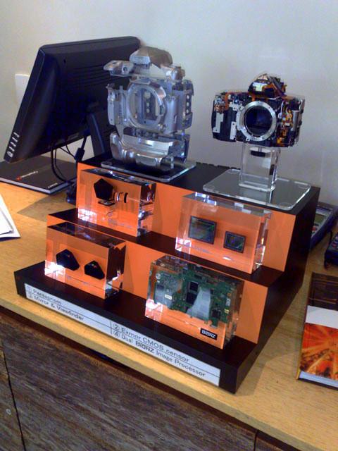 Os principais componentes de uma Sony Alpha 900
