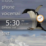 Tela inicial do Windows Mobile 6.5