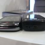 O DEXT é mais fino que o Nokia N95 8GB, e tem teclado completo