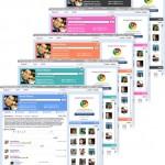 Agora os usuários podem escolher entre cinco opções de cor para o perfil