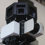 São ao todo nove câmeras, cobrindo 360º, além de receptor GPS e sensores de distância