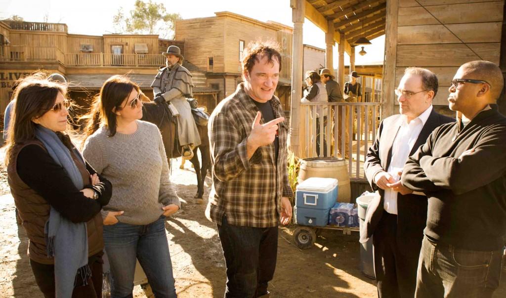 """Quentin Tarantino no set de """"Django Livre"""": o mesmo, mas amplificado (Foto: divulgação)"""