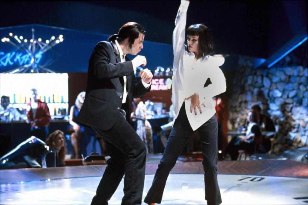John Travolta e Uma Thurman na cena que entrou para a antologia do cinema ( Fotos: divulgação)