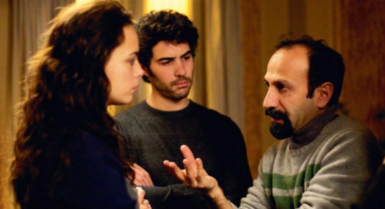 """Farhadi, à direita, orienta Bejo e Rahim no set de """"O passado""""  ( Foto: divulgação)"""
