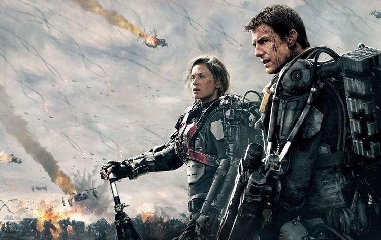 """Tom Cruise e Emily Blunt em imagem promocional de """"No limite do amanhã"""""""