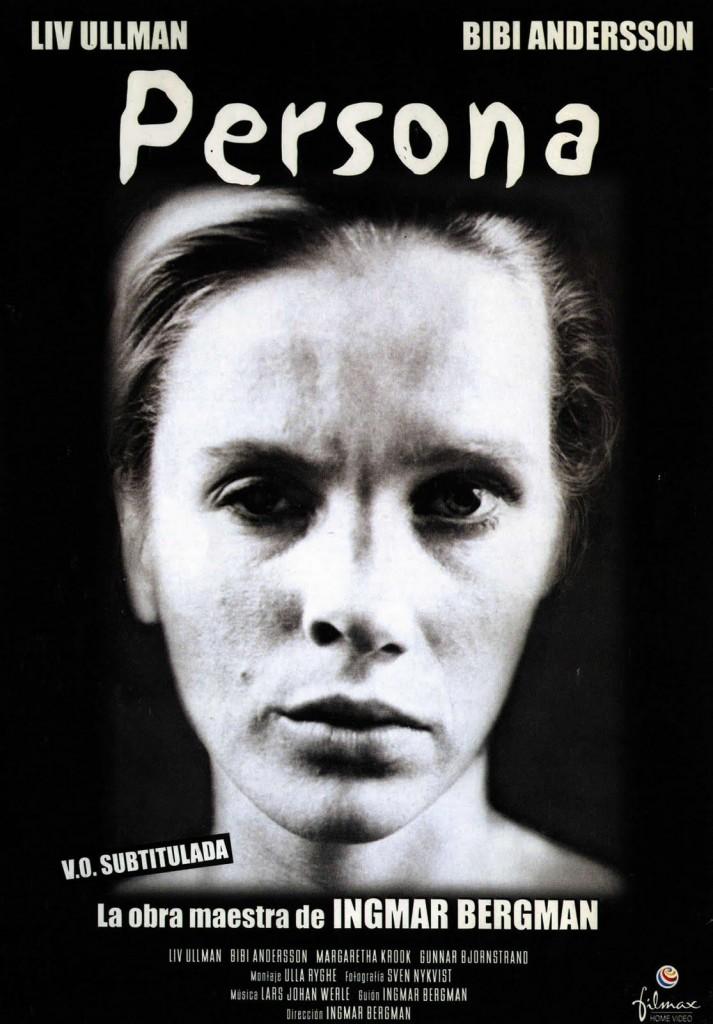 """Cartaz de """"Persona"""", 1º filme em que dirigiu Liv Ullmann; seu grande amor no cinema e fora dele"""