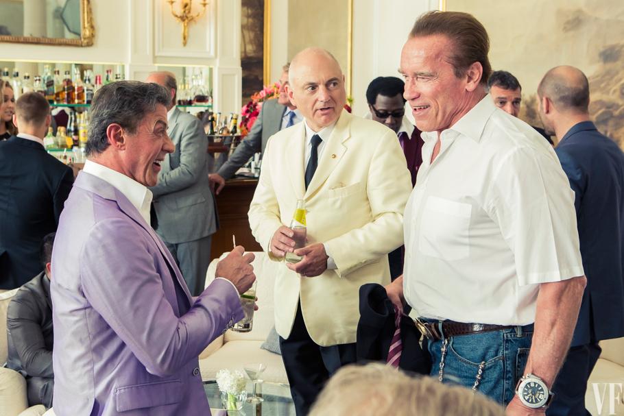 Stallone, Schwarzenegger e seus punhos...