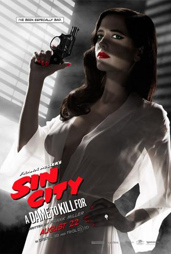 """O famigerado pôster  de """"Sin City 2"""" com Eva Green e os mamilos desnudos"""