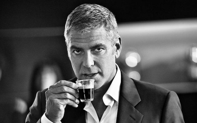 Um 2014 sem filmes para Clooney e mesmo assim histórico Foto: divulgação/Nespresso