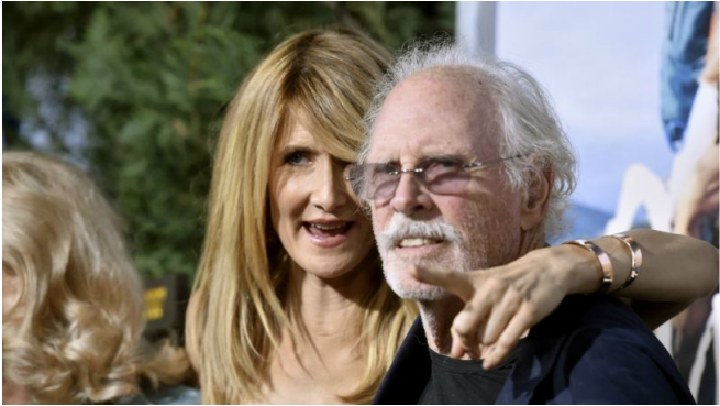 Laura Dern e seu pai, Bruce: o Oscar como assunto de família  (Fotos: divulgação e Getty)