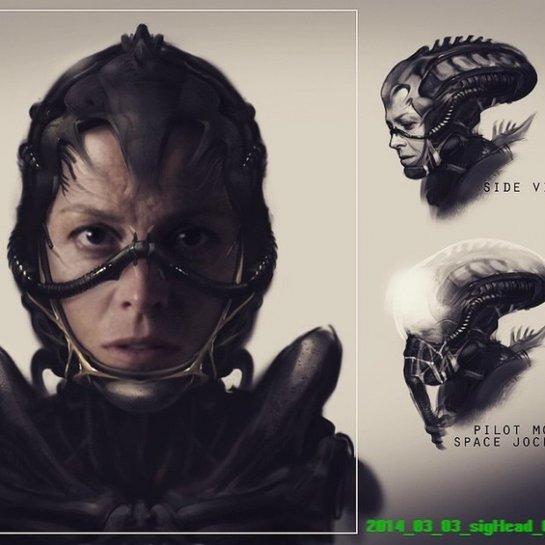 """Arte conceitual de Blomkamp para o novo filme da franquia """"Alien"""""""