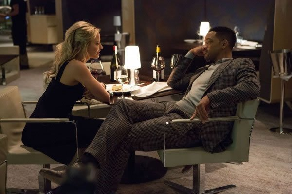 "Will Smith e Margot Robbie em cena de ""Golpe duplo"""