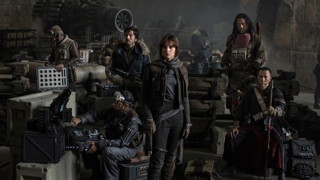 """O elenco de """"Star Wars Rogue One"""" em destaque"""