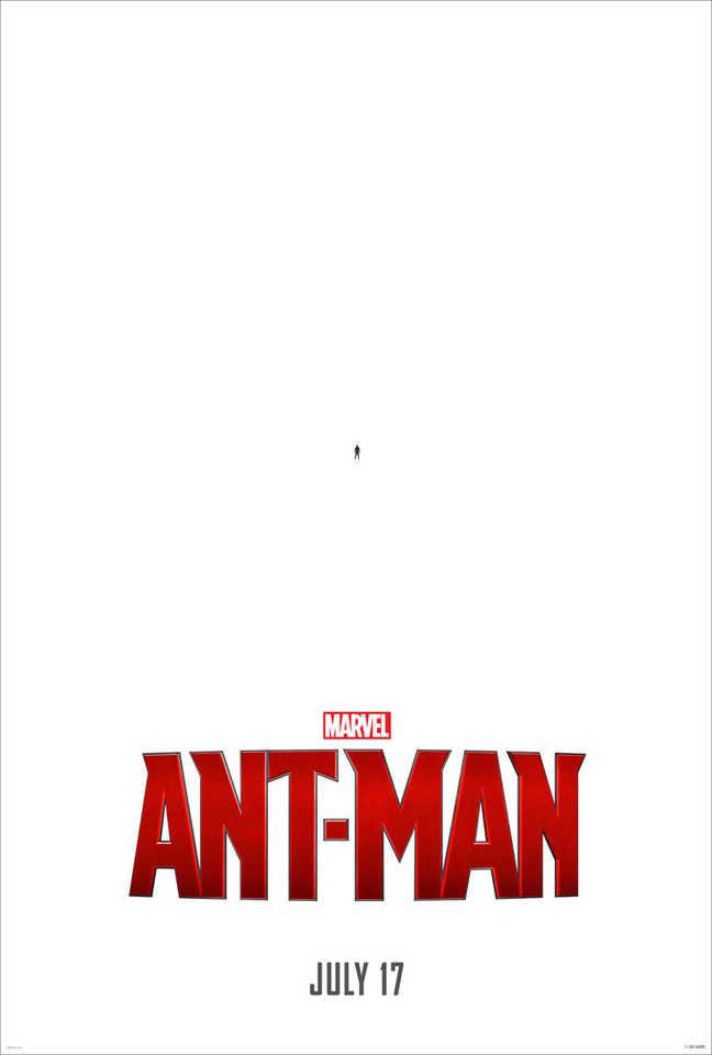 """A ideia deste pôster de """"Homem-Formiga"""" pode até ser meio óbvia, mas funciona que é uma beleza"""
