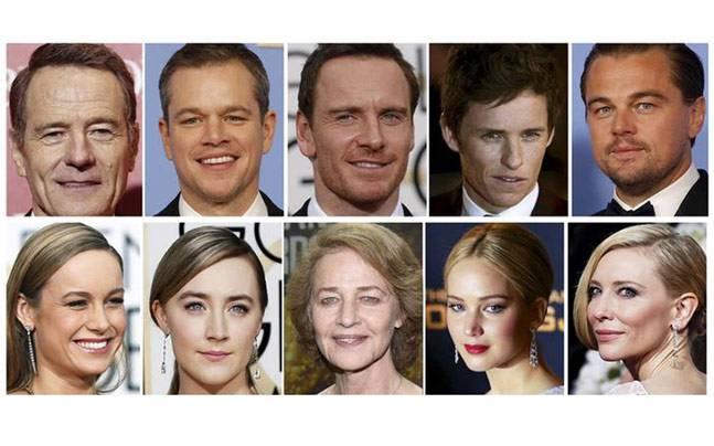 Os indicados a melhor ator e atriz: brancura e culpa