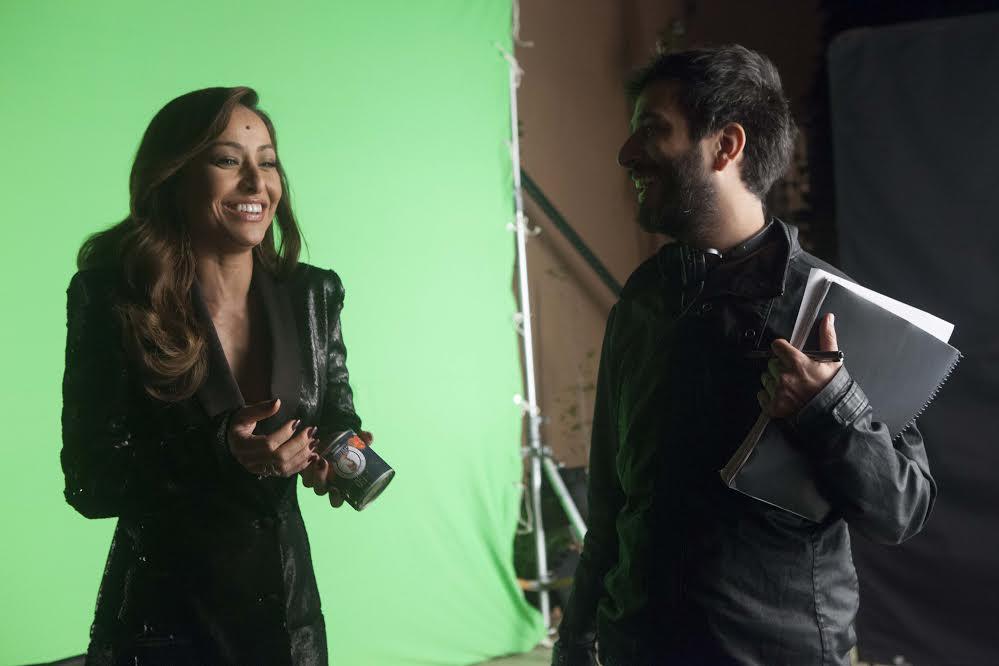 O diretor Pedro Amorim e a atriz e apresentadora Sabrina Sato (Foto: Gui Maia)