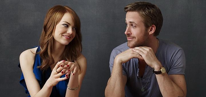"""Ryan Gosling e Emma Stone, os protagonistas de """"La La Land"""" (Foto: reprodução/Premiere)"""