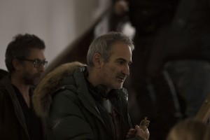 Olivier Assayas no set de Personal Shopper