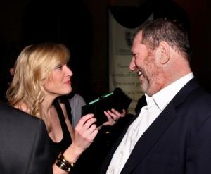 Harvey Weinstein e Kate Winslet, uma das atrizes que venceu o Oscar apoiada pela máquina de Harvey