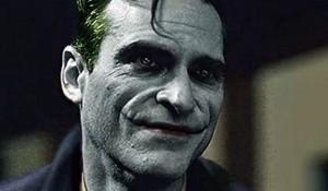 Arte de fã com o rosto de Joaquin Phoenix como Coringa