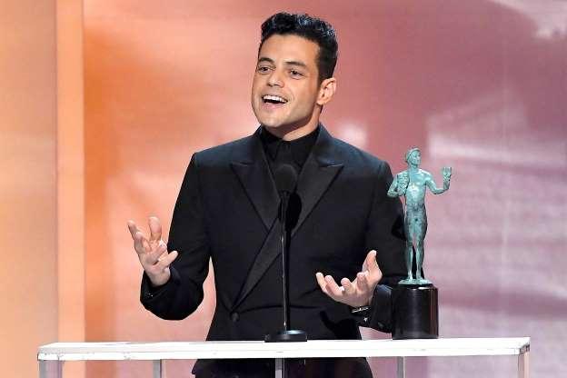 "Rami Malek triunfa no SAg por seu papel em ""Bohemian Rhapsody"""