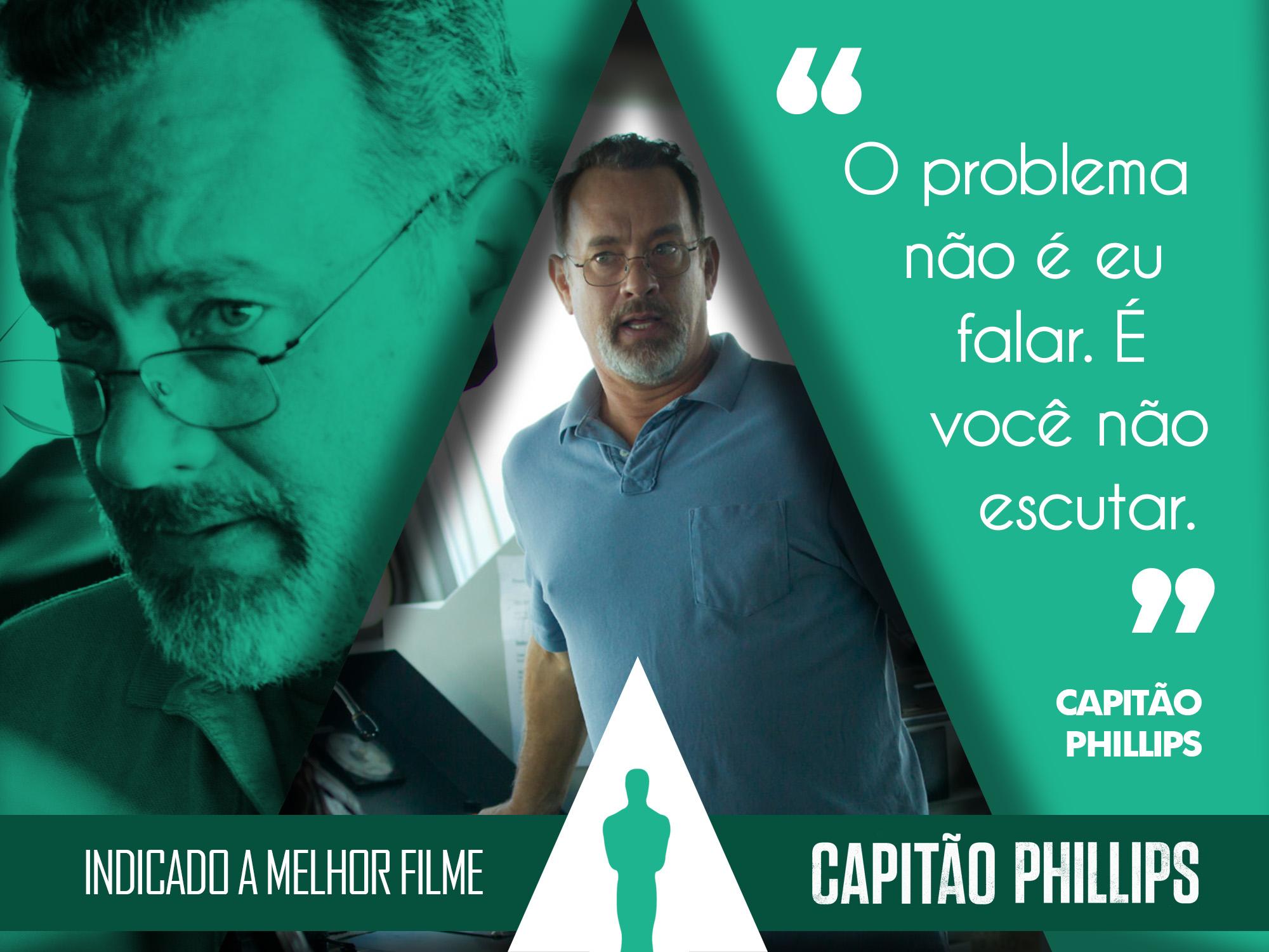 FRASE OSCAR 2014 - CAPITÃO PHILLIPS