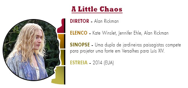 OSCAR 2015 A Little Chaos BEST PICTURE ACADEMY AWARDS 2015