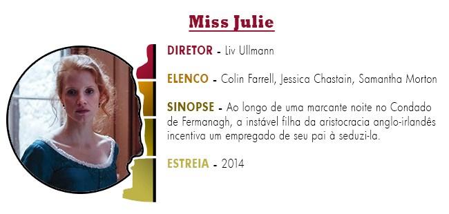 OSCAR 2015 Miss Julie BEST PICTURE ACADEMY AWARDS 2015