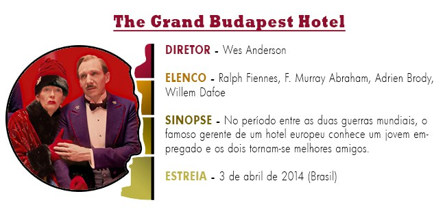 OSCAR 2015 The Grand Budapest Hotel BEST PICTURE ACADEMY AWARDS 2015
