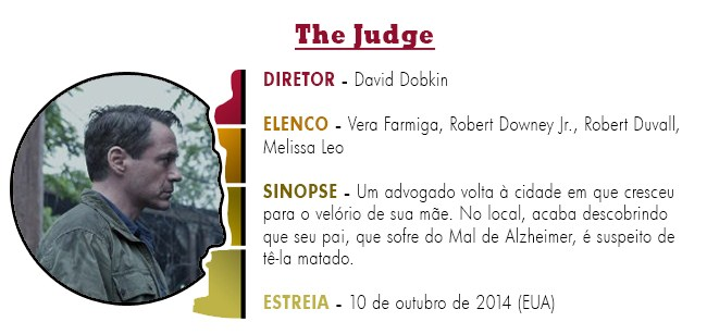OSCAR 2015 The Judge BEST PICTURE ACADEMY AWARDS 2015