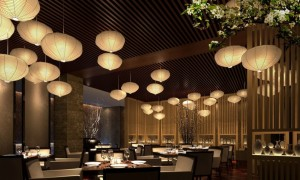 wonderful-asian-restaurant-interior-design-white-lampions-wooden-ceiling-as-inspiring-design-915x550