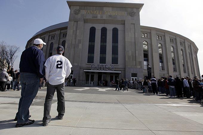 A fachada do estádio