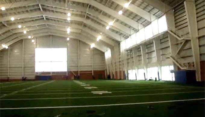 Um dos campos de treino