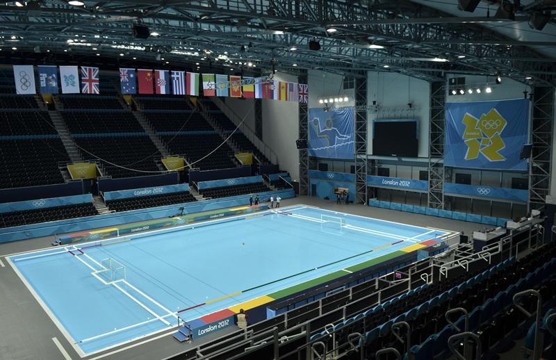 A arena de polo aquático para as Olimpíadas de Londres