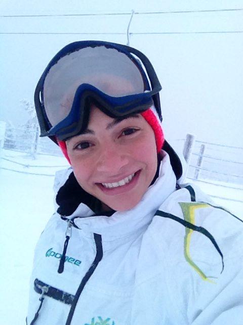 Laís Souza está buscando uma vaga no Aerials para os Jogos de Sochi